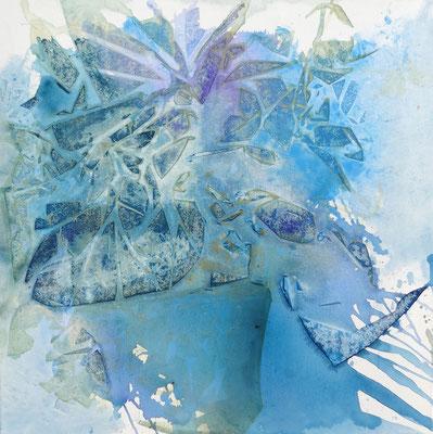 Die blauen Blumen, Acryl auf Lwd. 80 x 80 , 2017