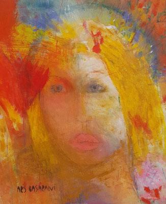 Lolita, Acryl auf Ldwd.80 x 65, 2020