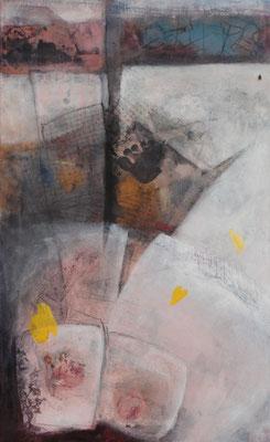 alte Zeiten-neue Zeiten,Acryl-Mischtechnik auf Leinwand,90 x 55,übermalt 2012