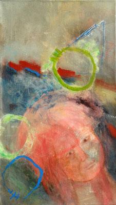 Kürbisernte-1,Acryl-Pigmente-Mischtechnik auf Lwd., 40 x 70 , 2009