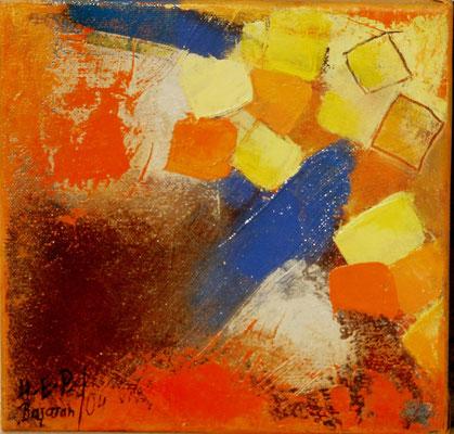 Würfelspiel,Acryl auf Lwd,Keilrahmen 20 x 20,2004