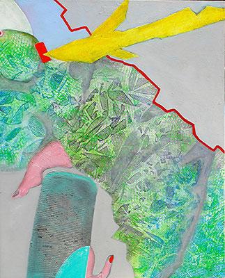 Amor schlägt zu,Acrylauf Lwd, 100 x 80,2006