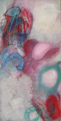 Ein Spiel,Acryl,Pigmente auf Lwd.,  140 x 70, 2008