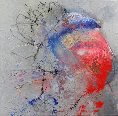 luftgekrönt, Acryl-mixed media, 50 x 50, 2014