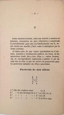 Página 8 del libro: multiplicación de dos factores de dos cifras cada uno