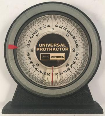 Universal Protractor SEARS CRAFTSMAN transportador para medir el ángulo de inclinación, con base magnética, 12 cm x 10.5 cm diámetro