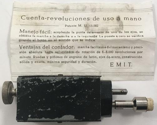 Trasera del contador e instrucciones de uso en español