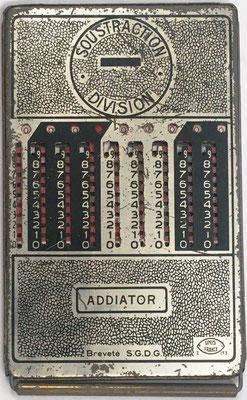 Reverso (color plata) del ábaco de ranuras ADDIATOR Unis-France 2-193