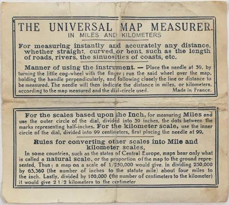 Instrucciones de uso del medidor de distancias para mapas HC (Henry Chatelain)