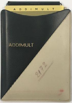 Ábaco de ranuras ADDIMULT SUMAX-E, fabricado por Kübler, Hans-Wolfgang, en Alemania Occidental, sin s/n, año 1951, 8.5x12.5 cm