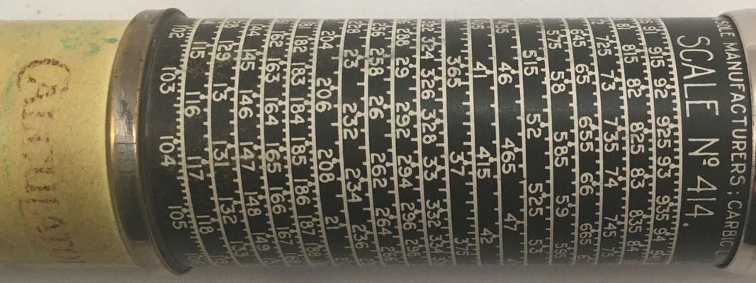 Escala nº 414, Patentees, Sole Manufacturer's Carbic Limited, 51 Holborn Viaduct, London E. C. 1