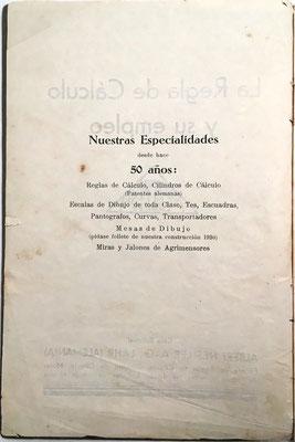 La empresa Nestler comenzó la fabricación de reglas y cilindros de cálculo en el año 1878