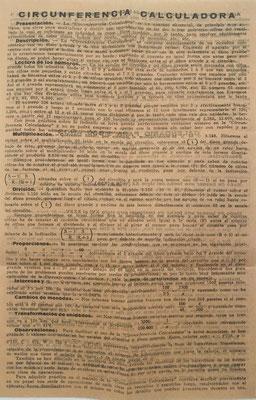 """Detalle de las instrucciones de uso para la """"CIRCUNFERENCIA CALCULADORA"""""""
