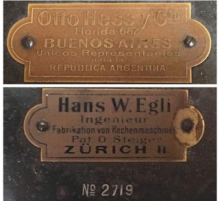 """Este es el modelo """"The Millionaire"""" Frühes Modell de 1895, lleva el s/n 2719 y fue vendido en Argentina por su agente único Otto Hess y Cia."""