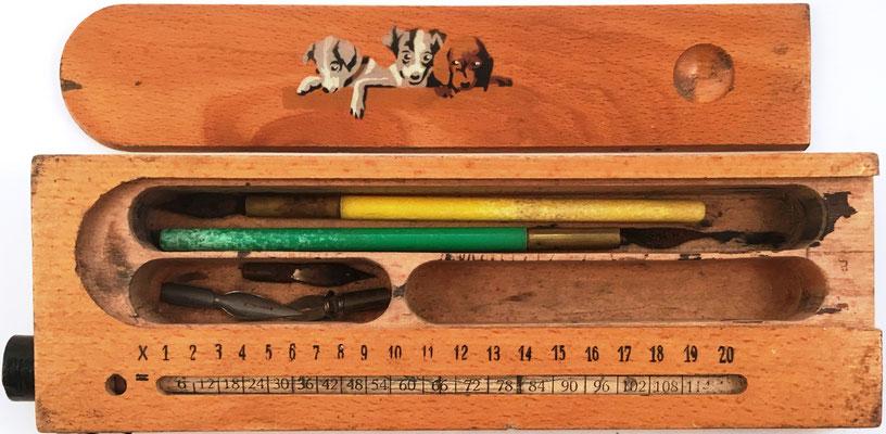 Estuche para lapiceros sin marca, con cilindro multiplicador en el estuche, productos hasta 10x20, 22x6 cm