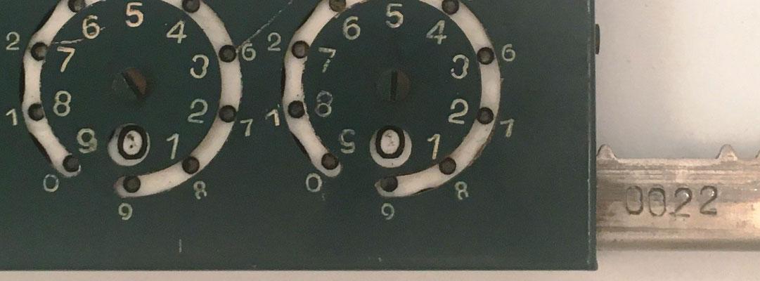 "Detalle del s/n 0022 en el ADDOMETER-PAMOMA modelo B ""Standar-decimal"", Palma de Mallorca"
