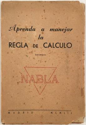 Folleto explicativo de 62 páginas para la regla NABLA con 51 esquemas y dibujos, año 1952