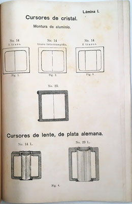 La lámina I está dedicada a diferentes tipos de cursores de la casa Nestler