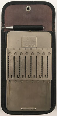 Ábaco de ranuras GRAY Pocket Arithmometer, posición de resta