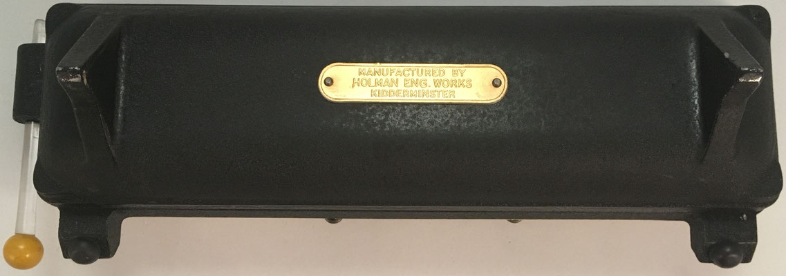Reverso de la sumadora O. J. ADDER, Manufactured by Holman Eng. Works, Kidderminster