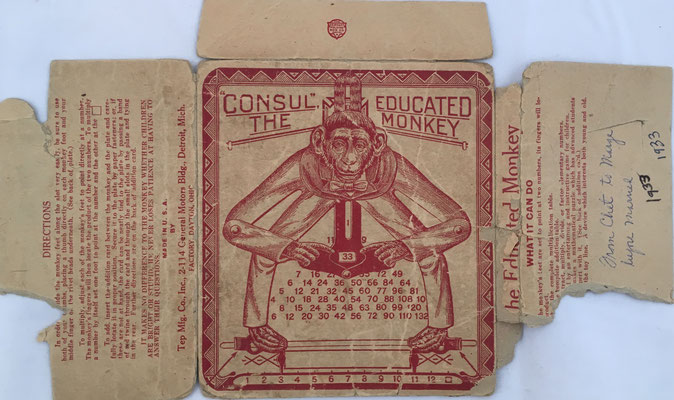 Envoltorio con instrucciones de The Educated Monkey