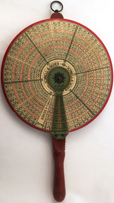 Tabla circular de multiplicación SCHNELL & SICHER (rápido y seguro), hacia 1920, 25 cm diámetro