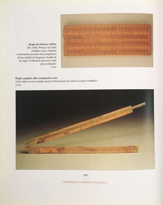 Regla de cálculo de Péraux con dos reglillas (1885)