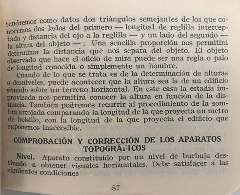 En la página 87 se completa la explicación para utilizar la regla de cálculo como estadia improvisada