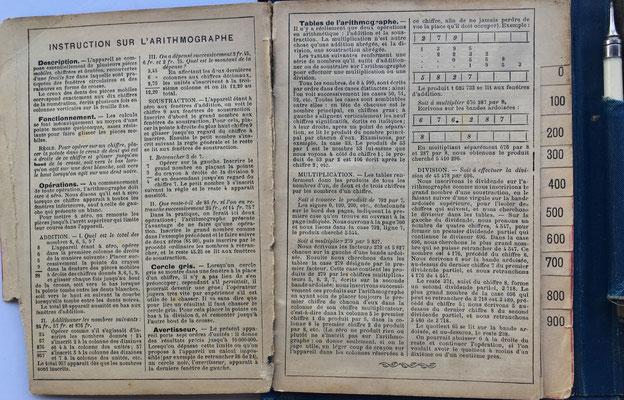 Instrucciones de uso del ábaco TRONCET, libraire Larousse (Paris)