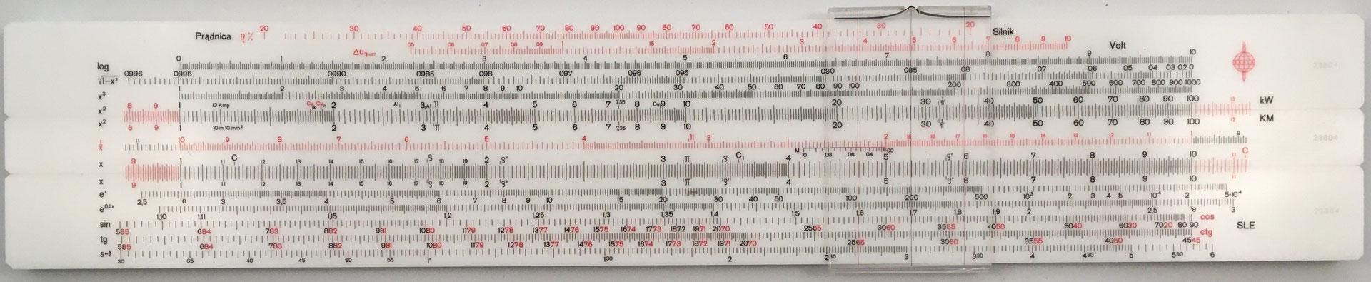 SKALA suwat logarytmiczny Elecktro, 13 escalas,  s/n 23804, 33.5x6 cm