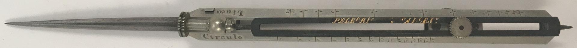 Compás de reducción, con mecanismo de ajuste, en posición cerrada
