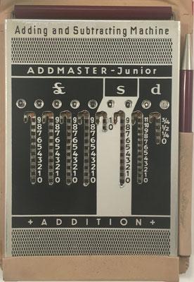Ábaco de ranuras ADDMASTER JUNIOR, fabricado por Addimult, sin s/n, año 1950, 9x13 cm