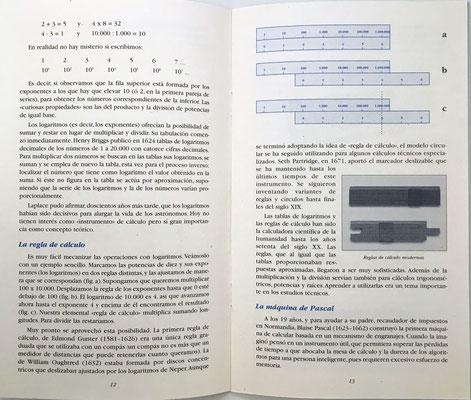 Páginas 12 y 13 del catálogo: regla de cálculo