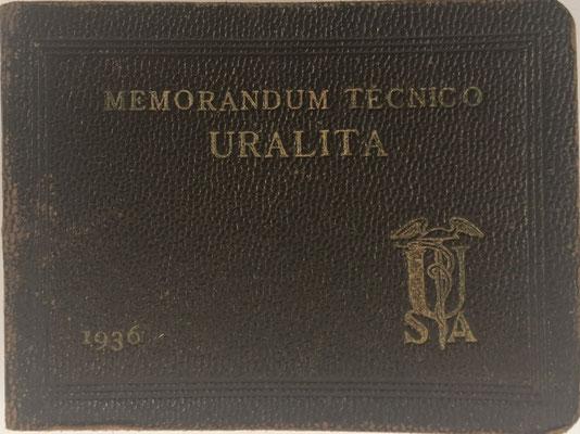 Memorandum Técnico URALITA, Santiago Rubió Tudurí, 263 páginas, año 1936, 8x6 cm