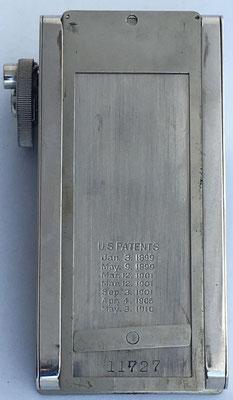 Reverso del ábaco de cadena ARITHSTYLE con su número de serie 11727
