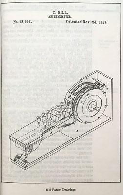 Arithmometer de Thomas Hill, patente del año 1857
