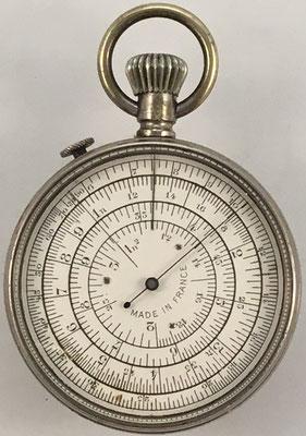 Reverso CALCULIGRAPHE, hecho en Francia por Henry Chatelain (H.C.), sistema Boucher