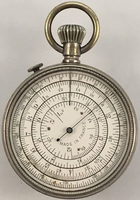 Reverso CALCULIGRAPHE, hecho en Francia por Henry Chatelain (H.C.), sistema Boucher de Negretti Zambra (Londres)