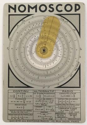 Cercle a calcul NOMOSCOP, hacia 1930, Paris, 19x13 cm