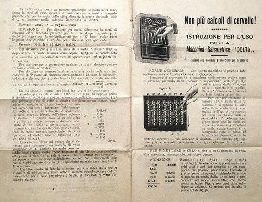 Instrucciones de uso para el ábaco de ranuras DELTA, en italiano