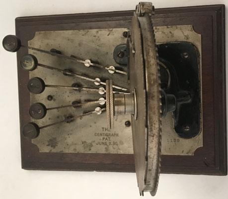 CENTIGRAPH fue inventada por Arthur Ewing Shattuck en 1882