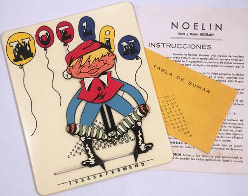 NOELÍN el muñeco que multiplica, divide, cuadrados, raíz cuadrada. Muñeco (plástico, 18x22 cm), instrucciones y complemento para la suma