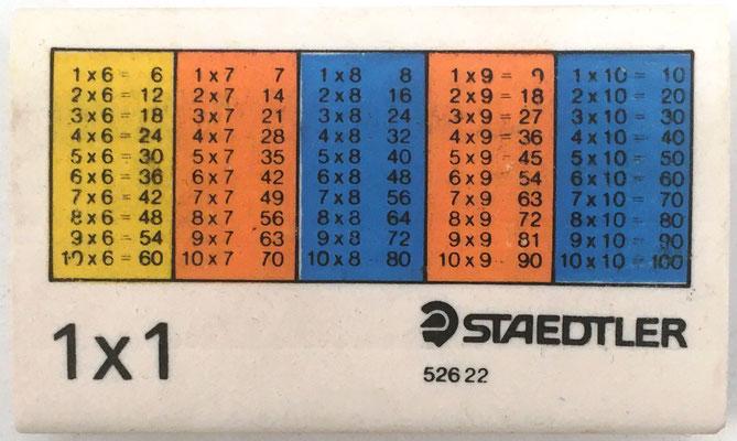 Reverso goma de borrar STAEDTLERT 52622, tablas del 6 al 10