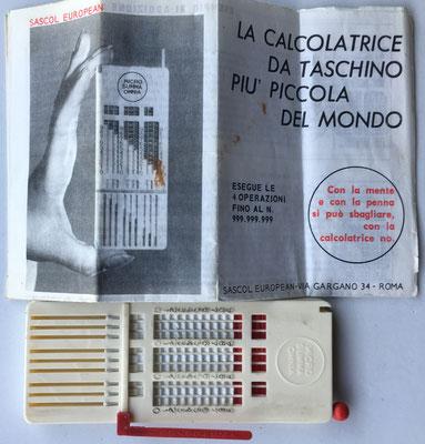 Aparato y folleto de instrucciones, año 1957
