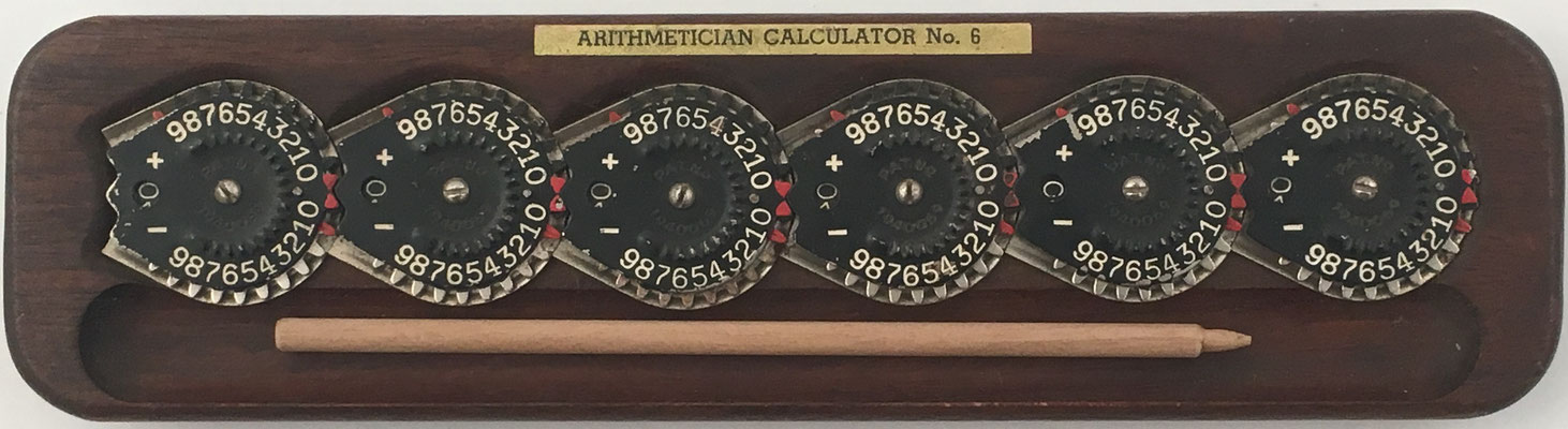 BAIR-FULTON CALCULATOR, Arithmetician Calculator nº 6, año 1928, 24x6 cm