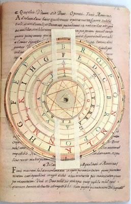 Llull inventó, anticipándose más de 600 años a Turing, una máquina que pretendía pensar, y que usaba un lenguaje propio, con un alfabeto de nueve letras (BCDEFGHIK) y unos discos de pergamino que representaban la memoria de su máquina