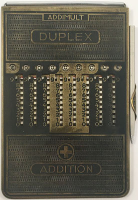 Ábaco de ranuras ADDIMULT DUPLEX, anverso para suma y multiplicación