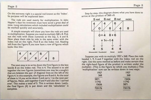Folleto de instrucciones para NAPIER'S ROODS Scholar's Edition: páginas 2 y 3