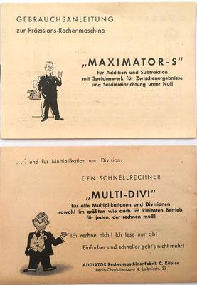 Instrucciones de uso para el ábaco de ranuras MAXIMATOR-S que se utiliza junto al libro MULTI-DIVI MAXIMAL