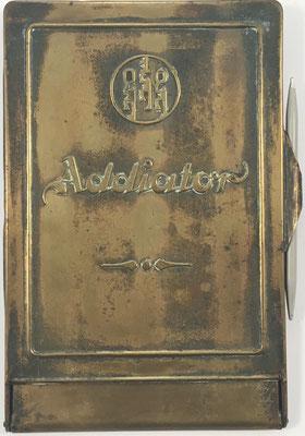 Ábaco de ranuras ADIATOR Sterling-gross, s/n F-984439, hecha por Addiator Gesellschaft en Berlin (Alemania), año 1923, 10.5x17.5 cm